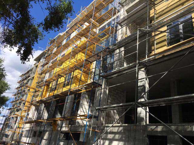 Ведем фасадные работы