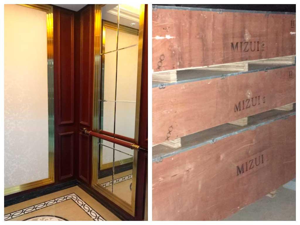Современные лифты Mizui уже получены и ждут установки